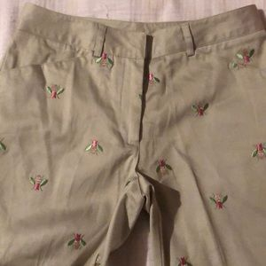 Khaki capris by Lilly Pulitzer, size 2. Longer EUC